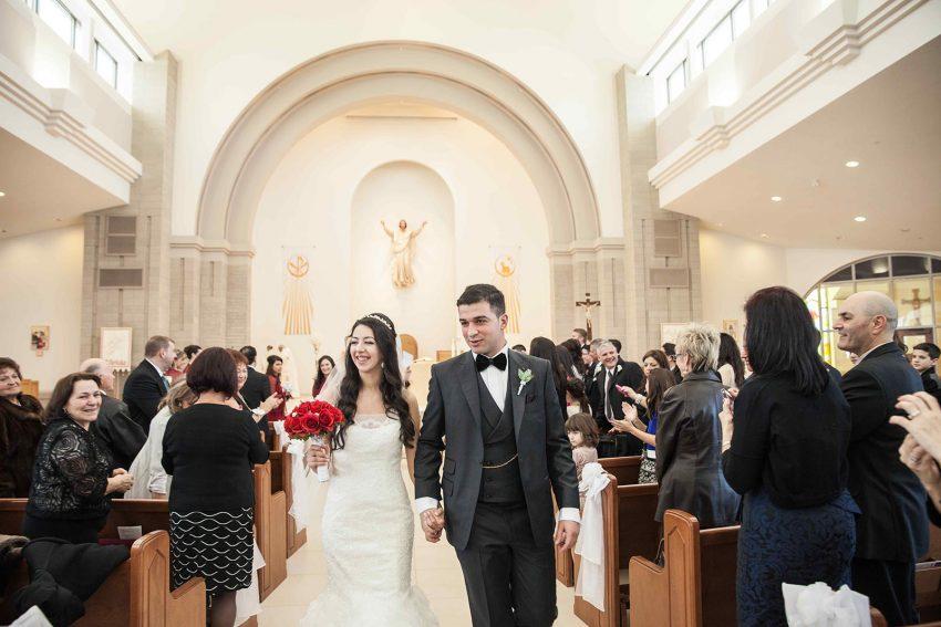 Valentines Day Wedding at Padre Pio Church